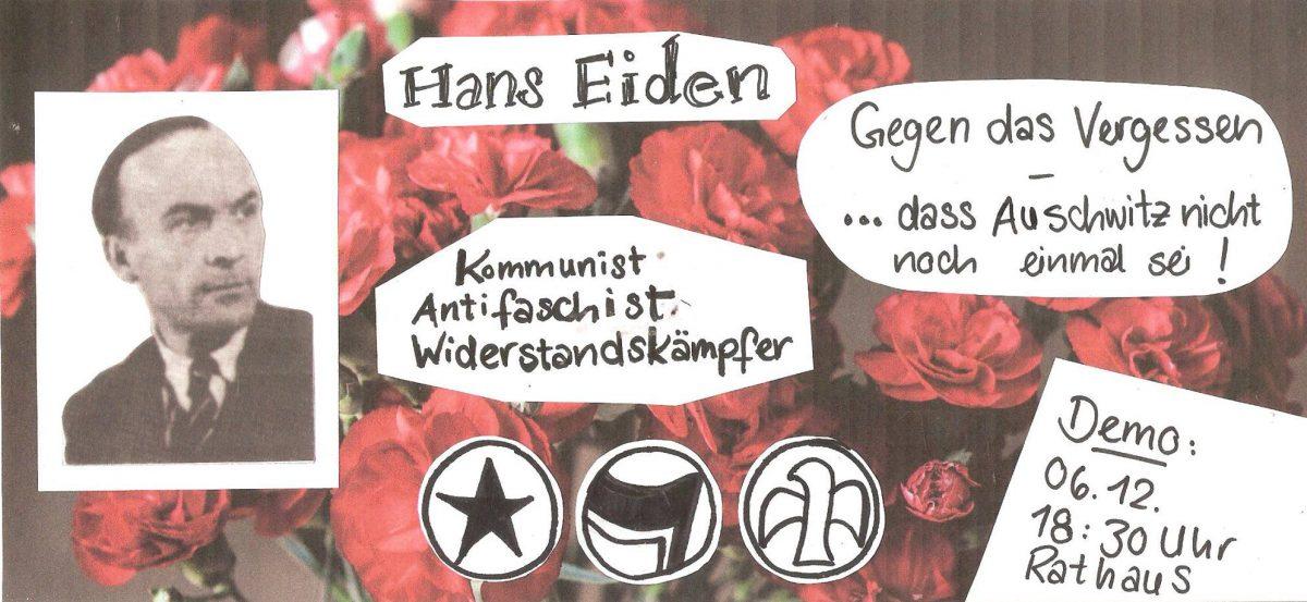 Gedenken an Hans Eiden